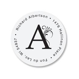 Luxury Round Address Labels