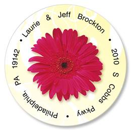 Dancing Daisies Round Address Labels