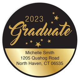 Custom Graduate Round Address Labels
