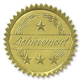 Achievement II Deluxe Embossed Foil Seals