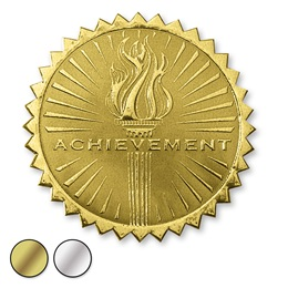 Achievement Torch Deluxe Embossed Foil Seals