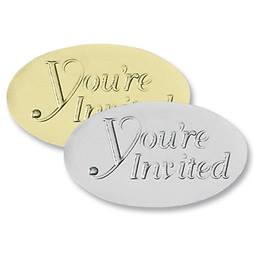 You're Invited Oval Embossed Seals