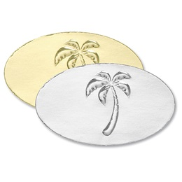 Palm Tree Embossed Seals