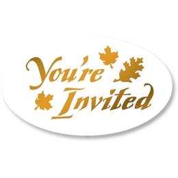 Leaf You're Invited Foil Seals
