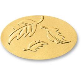 Leaves Gold Foil Seals