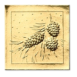 Pine Bough Embossed Foil Seals