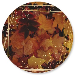 Geometric Golden Leaves Seals