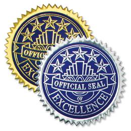 Excellence Deluxe Embossed Seals