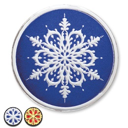 Snowflake Wish Foil Seals