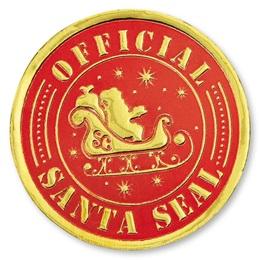 Santa Foil Seals
