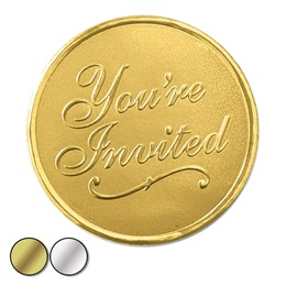 You're Invited Embossed Foil Seal