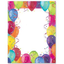 Birthday Balloons Border Papers