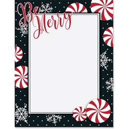Merry Days of the Season Border Paper