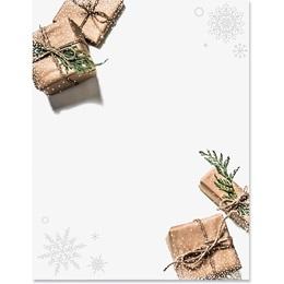 Golden Presents Border Paper