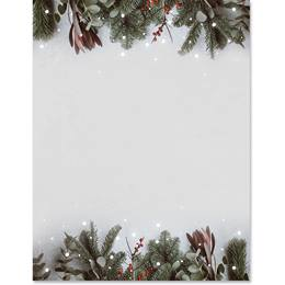 Christmas Greenery Border Papers