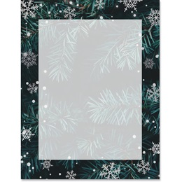 Christmas Fir Border Papers