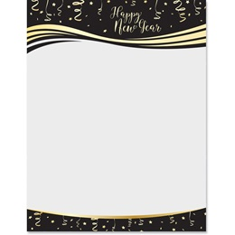 New Year Celebration Border Papers