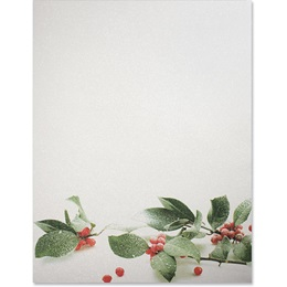 Holly Snow Shimmer Border Papers