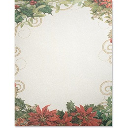 Holly Collage Shimmer Border Papers