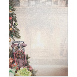 Christmas Memories Shimmer Border Papers