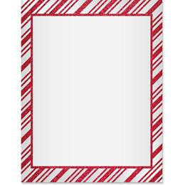 Red Stripe Border Papers