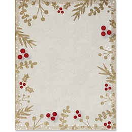 Matte Leaves and Berries Border Papers