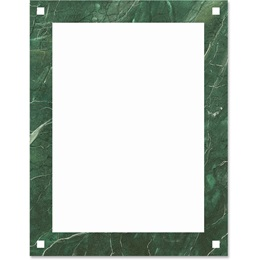 Green Marble Border Papers