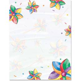 Pinwheel Border Papers