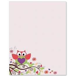 Valentine Owl Border Papers