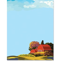 Red Barn Border Papers
