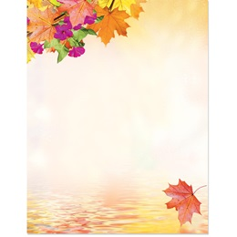 Fall Reflection Border Papers