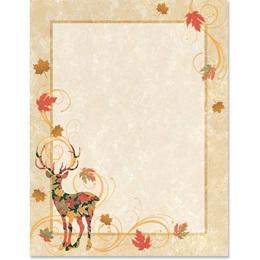 Deer Autumn Border Papers