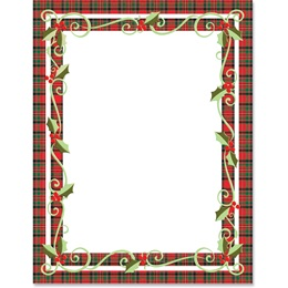 Swirly Plaid Border Papers