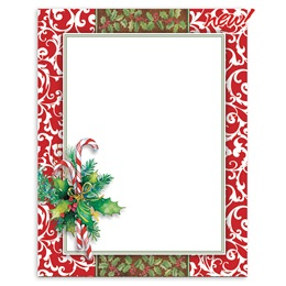 Holiday Toile Border Papers
