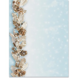 Silver Garland Border Papers