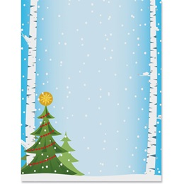Birch Trees Border Papers