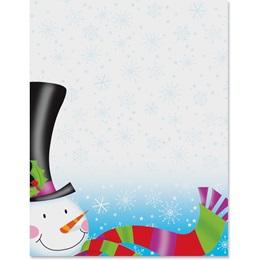 Snowman Hat Border Papers