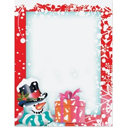 Snowman and Gift Border Papers