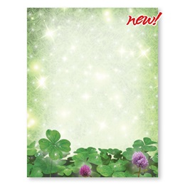 Shimmering Clover Border Papers