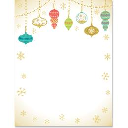 Hanging Ornaments Border Papers