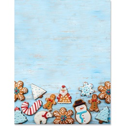 Holiday Cookies Border Papers