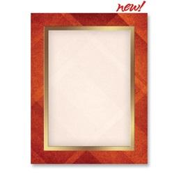 Autumn Tartan Border Papers