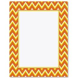 Candy Corn Chevron Border Papers