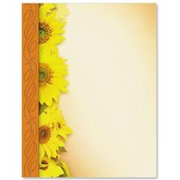 Sunflower Delight Border Papers