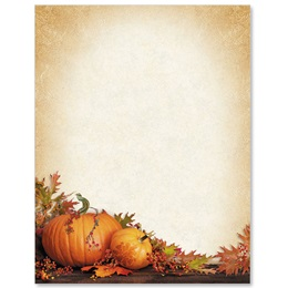 Stenciled Pumpkins Border Papers