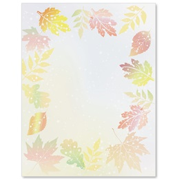 Subtle Leaves Border Papers