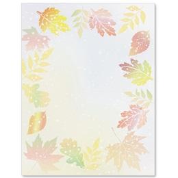 Subtle Leaves Border Papers