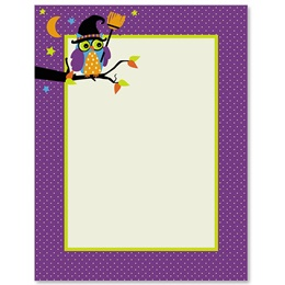 Halloween Owl Border Papers
