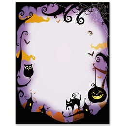 Halloween Night Border Papers