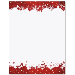 Red Gala Border Papers
